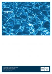 Voucher with stylish water motif
